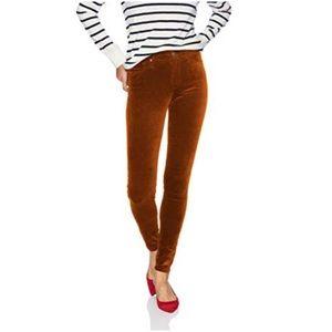 AG Cognac Velvet The Farrah Skinny Size 27 R